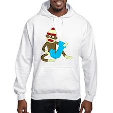 Sock Monkey Monogram Boy J Hoodie