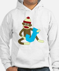 Sock Monkey Monogram Boy J Hoodie