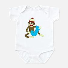 Sock Monkey Monogram Boy J Infant Bodysuit