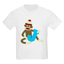 Sock Monkey Monogram Boy J T-Shirt