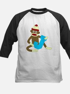Sock Monkey Monogram Boy J Tee