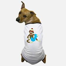 Sock Monkey Monogram Boy J Dog T-Shirt