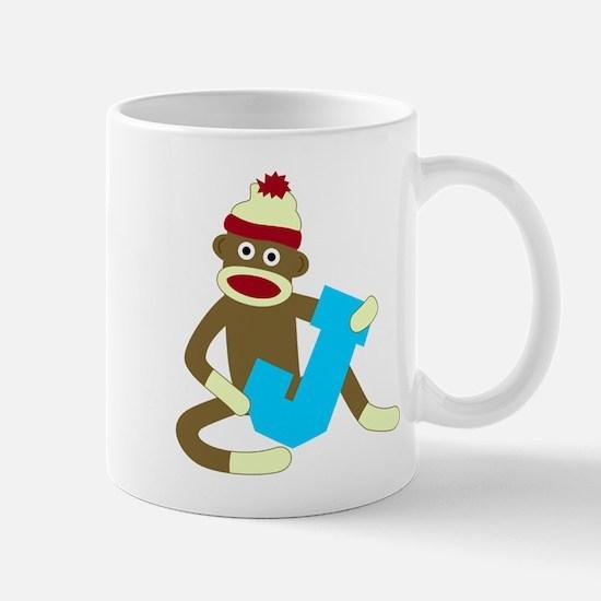 Sock Monkey Monogram Boy J Coffee Mug