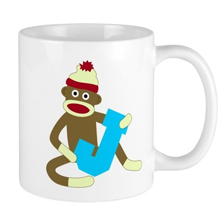 Sock Monkey Monogram Boy J Coffee Mug