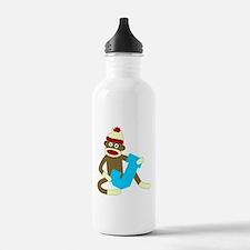 Sock Monkey Monogram Boy J Water Bottle