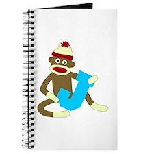 Sock Monkey Monogram Boy J Journal