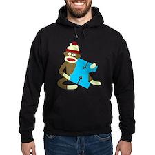 Sock Monkey Monogram Boy K Hoodie