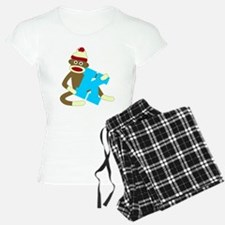 Sock Monkey Monogram Boy K Pajamas