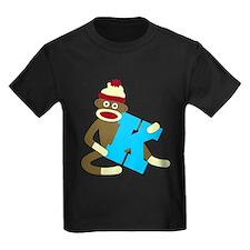 Sock Monkey Monogram Boy K T