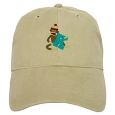 Sock Monkey Monogram Boy K Baseball Cap
