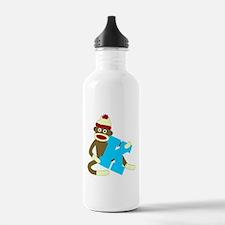 Sock Monkey Monogram Boy K Water Bottle