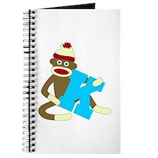Sock Monkey Monogram Boy K Journal