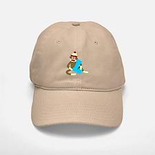 Sock Monkey Monogram Boy L Baseball Baseball Cap