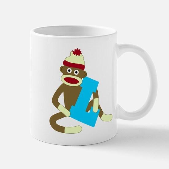 Sock Monkey Monogram Boy L Coffee Mug
