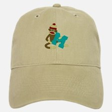 Sock Monkey Monogram Boy M Baseball Baseball Cap