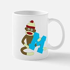 Sock Monkey Monogram Boy M Coffee Mug