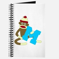 Sock Monkey Monogram Boy M Journal