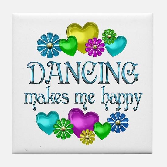 Dancing Happiness Tile Coaster