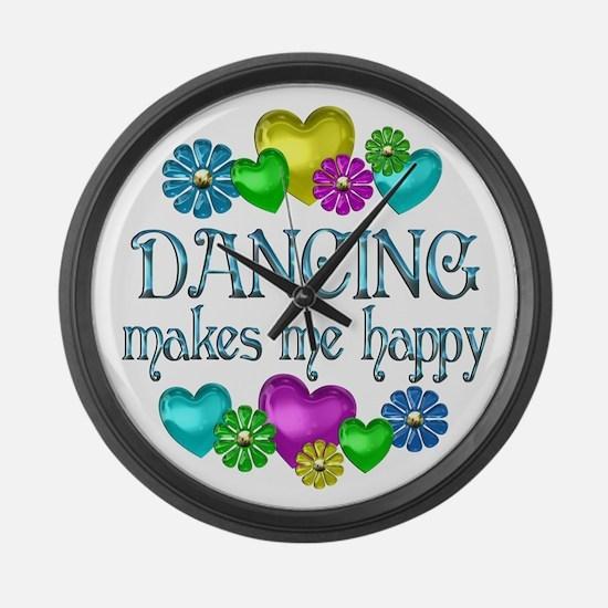 Dancing Happiness Large Wall Clock