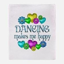 Dancing Happiness Throw Blanket