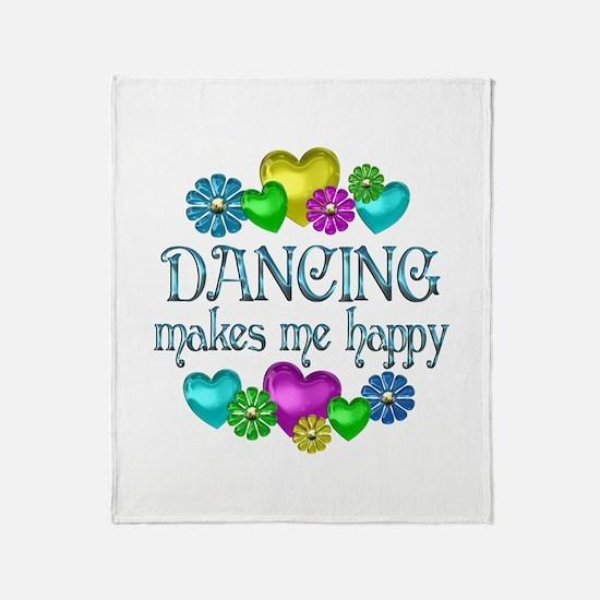 Dancing Happiness Throw Blanket