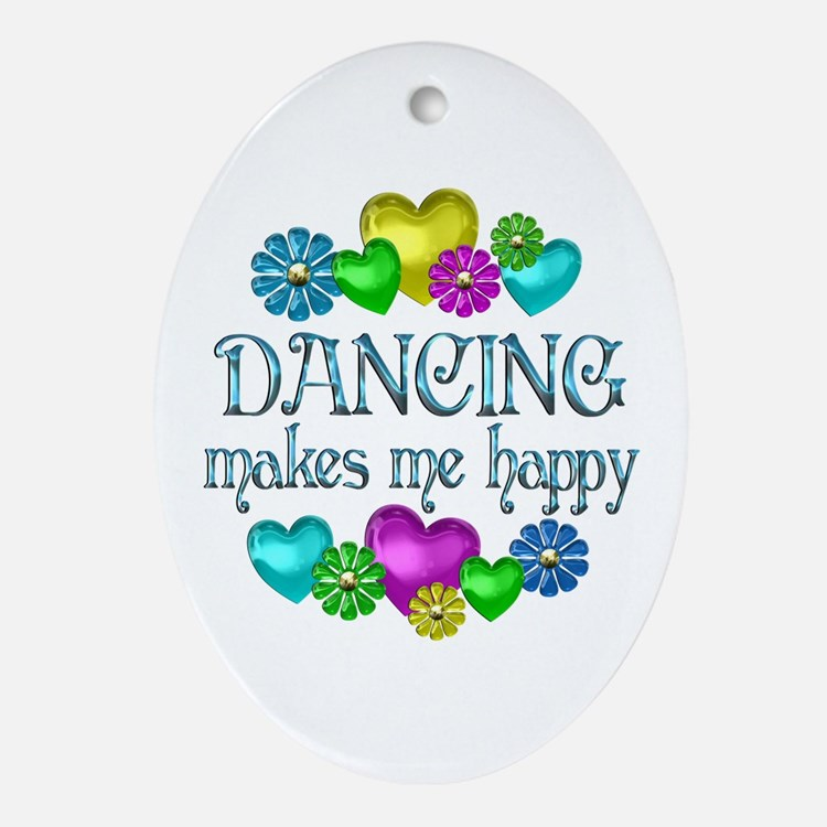 Dancing Happiness Ornament (Oval)