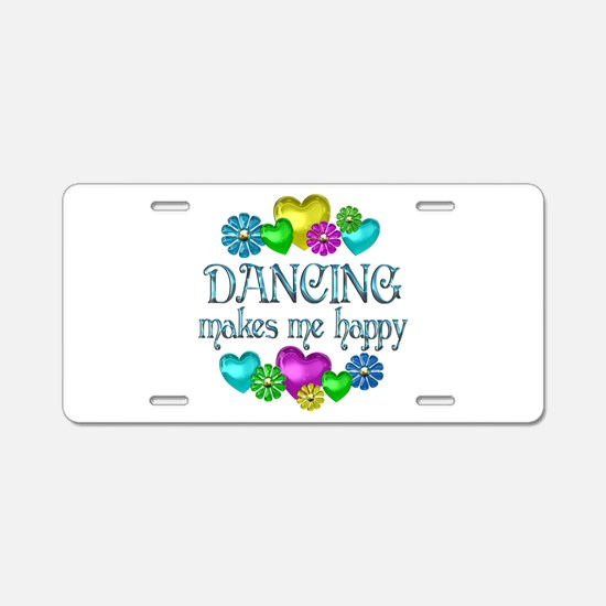 Dancing Happiness Aluminum License Plate