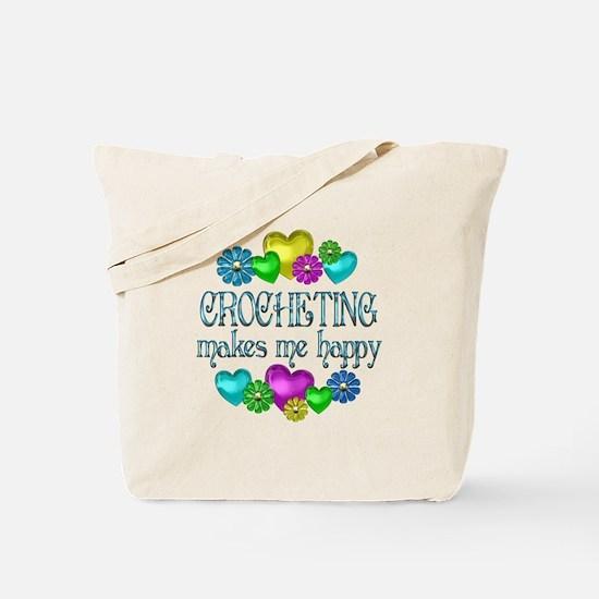 Crocheting Happiness Tote Bag