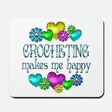 Crocheting Happiness Mousepad