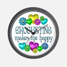 Crocheting Happiness Wall Clock