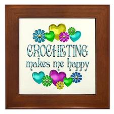 Crocheting Happiness Framed Tile