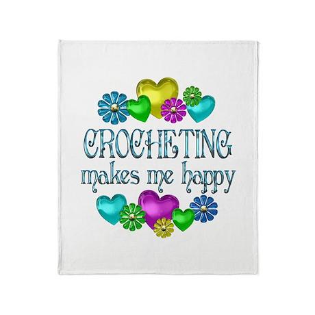 Crocheting Happiness Throw Blanket