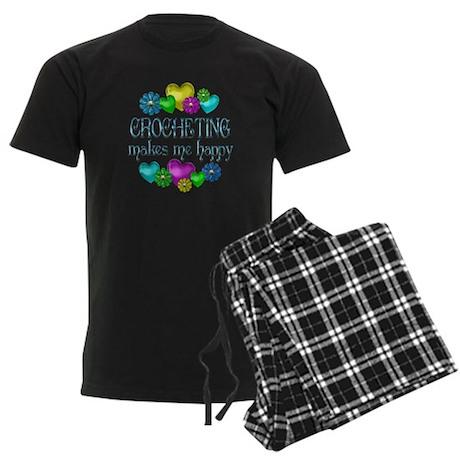 Crocheting Happiness Men's Dark Pajamas