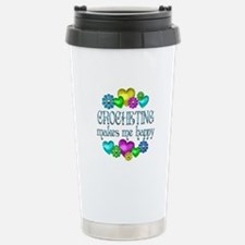 Crocheting Happiness Stainless Steel Travel Mug