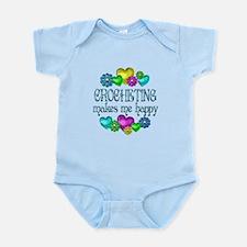 Crocheting Happiness Infant Bodysuit