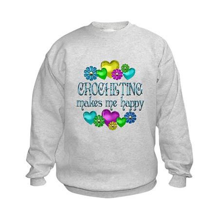 Crocheting Happiness Kids Sweatshirt