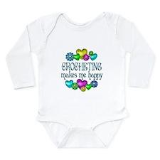 Crocheting Happiness Long Sleeve Infant Bodysuit