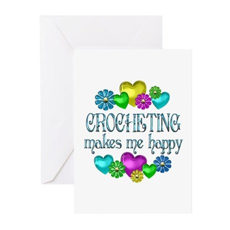 Crocheting Happiness Greeting Cards (Pk of 10)