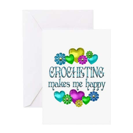 Crocheting Happiness Greeting Card