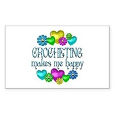 Crocheting Happiness Decal