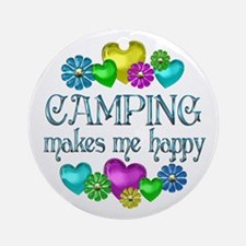 Camping Happiness Ornament (Round)