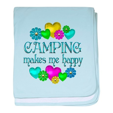 Camping Happiness baby blanket