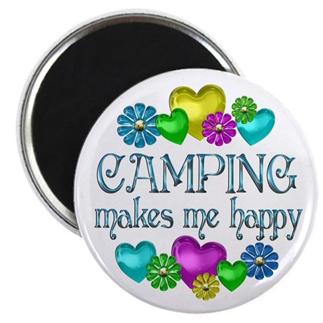 """Camping Happiness 2.25"""" Magnet (10 pack)"""