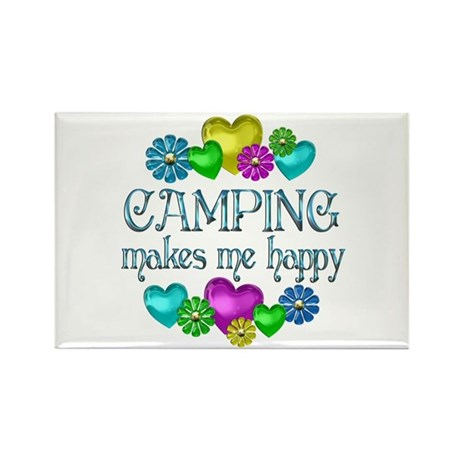 Camping Happiness Rectangle Magnet (10 pack)