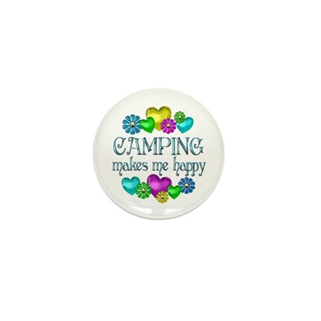 Camping Happiness Mini Button