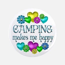 "Camping Happiness 3.5"" Button"