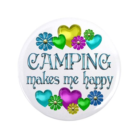 "Camping Happiness 3.5"" Button (100 pack)"