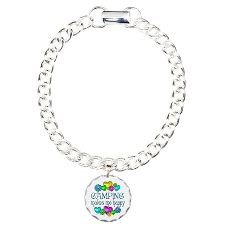 Camping Happiness Charm Bracelet, One Charm