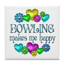 Bowling Happiness Tile Coaster