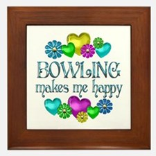 Bowling Happiness Framed Tile